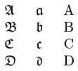 Manchmal wesentlich seltener als griechische buchstaben werden