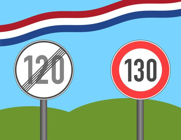 Tempolimit Niederlande von 120 auf 130 km/h erhöht
