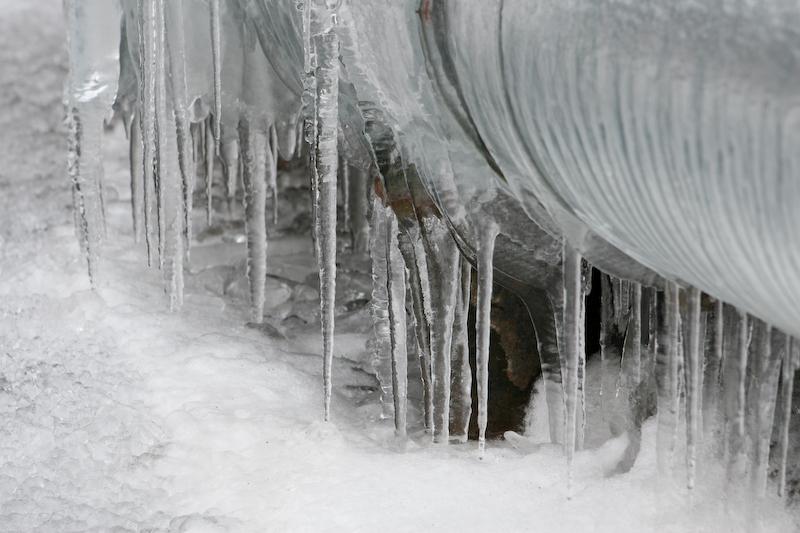 Winterspaziergang LaPaDu: Eis am Rohr