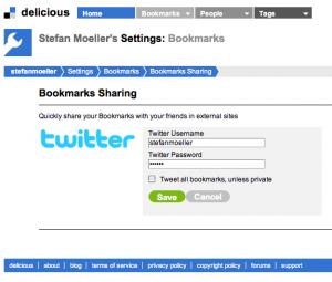 Von Delicious zu Twitter – Reloaded (Update)