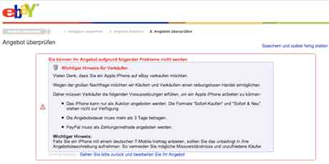 iPhone-Handel bei ebay