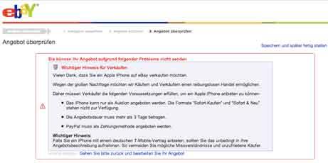 iPhone-Handel bei ebay