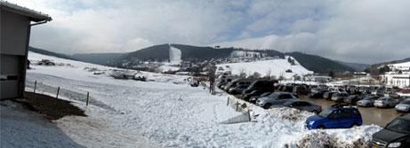 Ende März und Schnee en masse